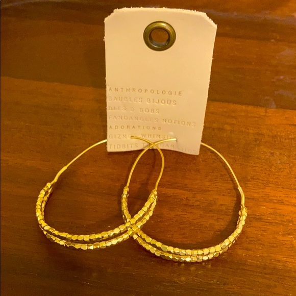 Anthropologie Gold Hoop Earrings
